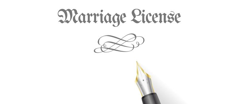 how do you get a marriage license