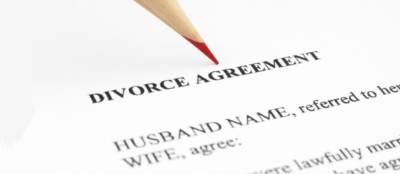 Filing divorce documents and forms