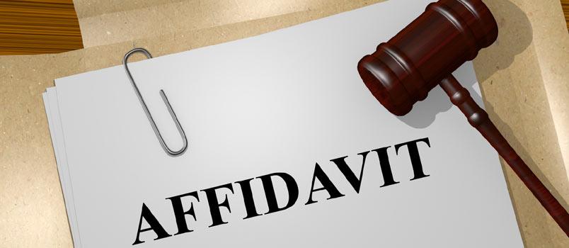 Affidavit of domestic partnership