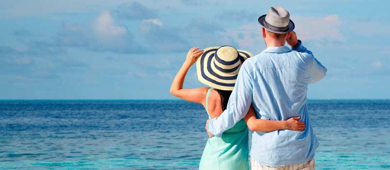 Exotic beach honeymoon: Maldives