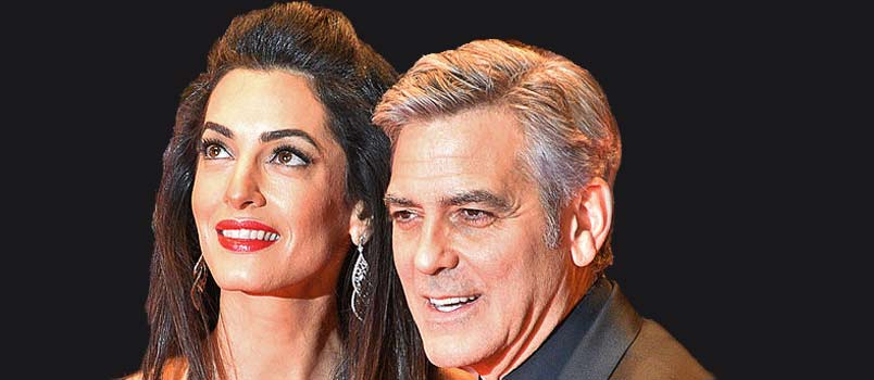 George Clooney and Amal Amlauddin