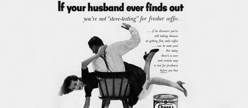 Provocative sexist advertisement from the 1940's