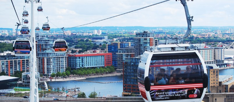 Ride on an Emirates Air Line Cable Car
