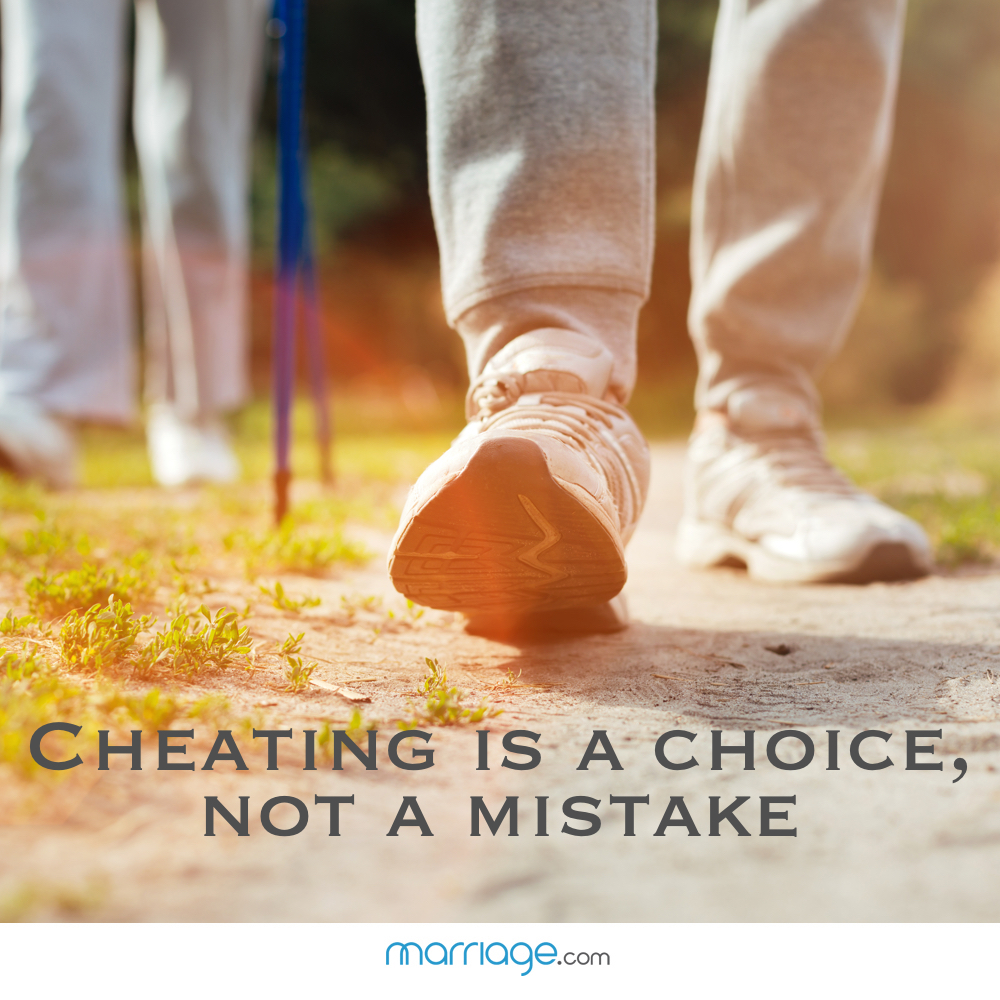 Cheating is a choice, not a mistake