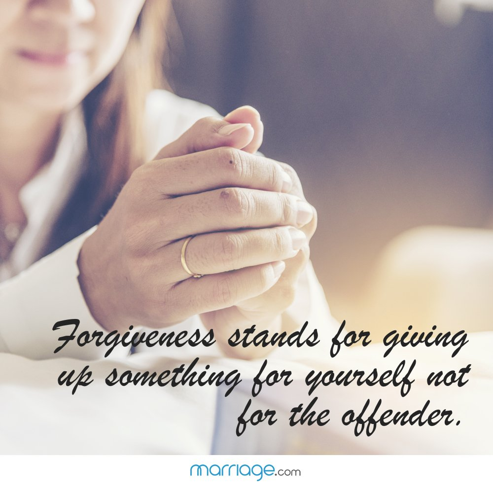 Forgiveness stands for giving up something for yourself not for the offender.