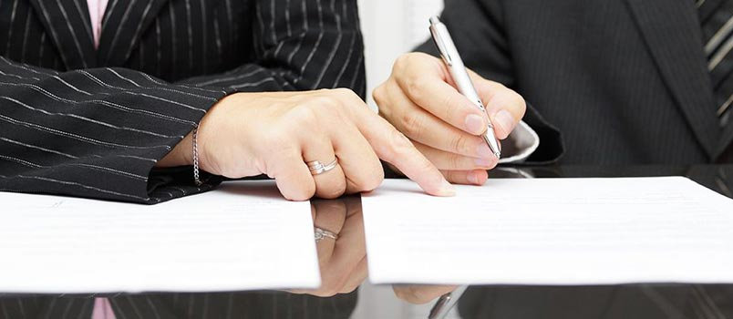 Serving documents and forms for divorce