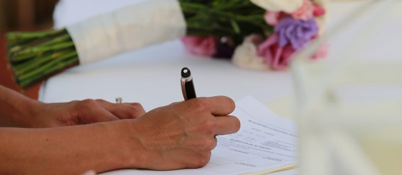 History of marriage license