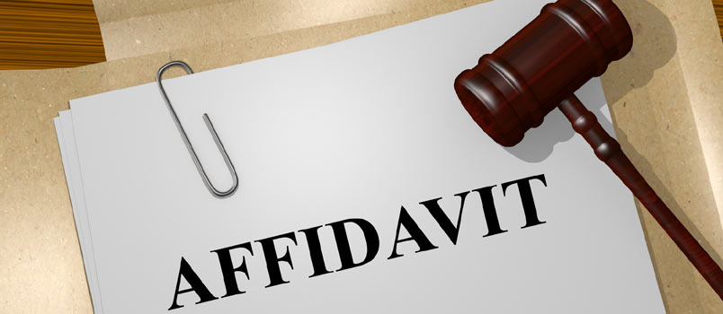 Affidavit of domestic partnership