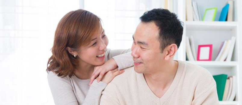 Young Asian Happy Couple