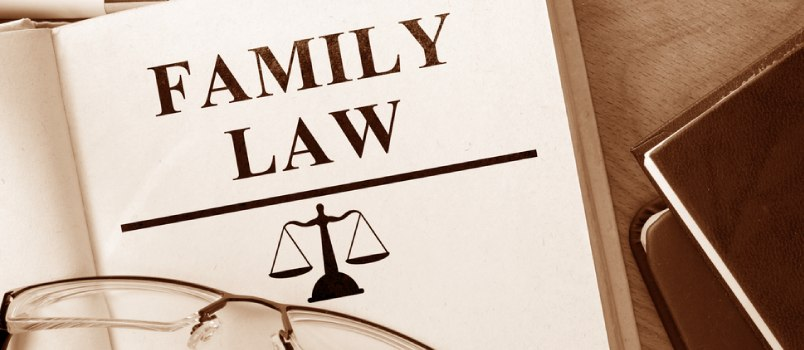 Family law covers matrimony, financial settlements and child care.