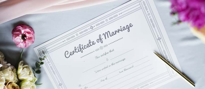 Here's what you'll need to bring to get your marriage licence