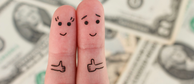 One of the biggest sources of strife that newlyweds face is conflicting views about money