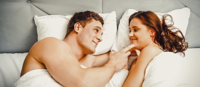 Sexual conversation during foreplay
