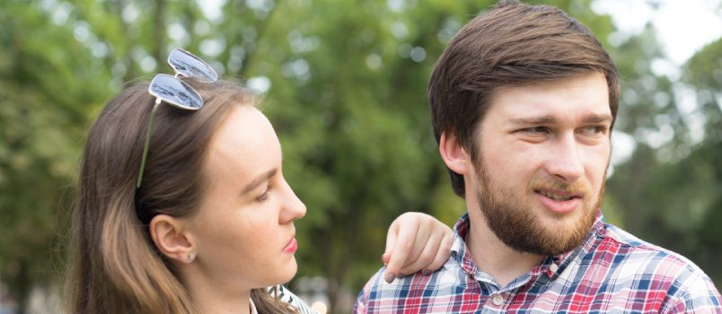 Man And Women Ignoring