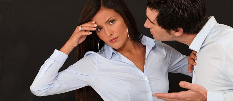 Couple Quarrel Black Isolated Background Studio