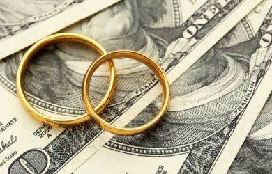 Marriage Ring With Doller Isolated Image