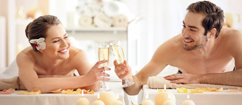 For a moment of mutual pampering, book a couples' spa date