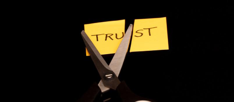 Trust Note Has Been Cut Half By Scissors