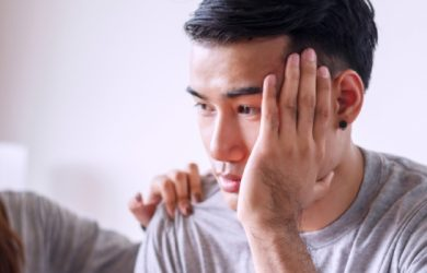 Unhappy Young Man Have Problems Being Quarrel With His Wife