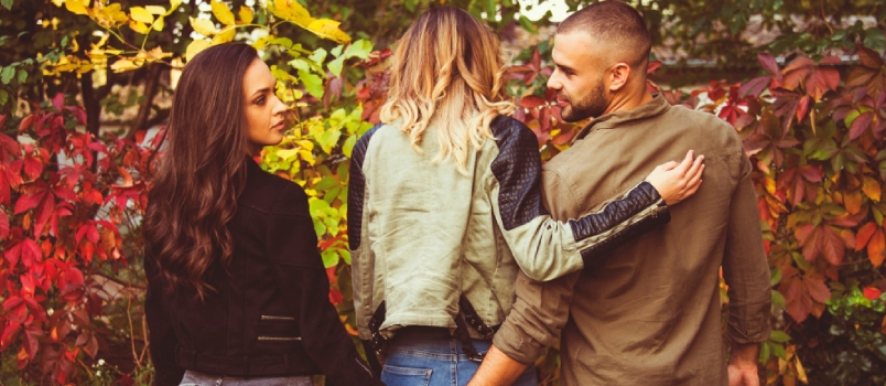 Relationship Concept Tree People Arguing Outdoor In Park Problems Secret Behind Back