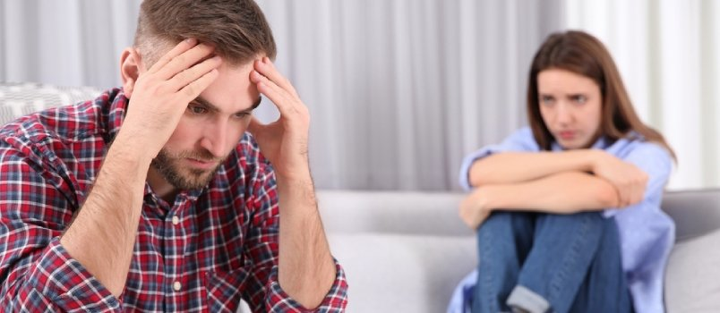 Couple With Problems in Relationship at Home