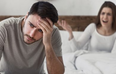 Quarrel In Family In Bedroom Marriage Conflict Concept