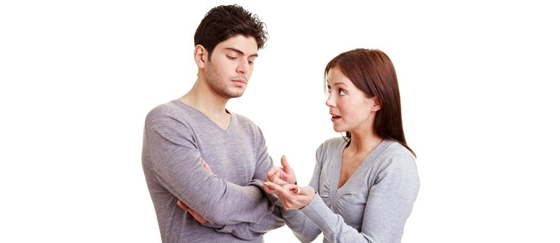 Woman Making Many Reproaches To Her Frustrated Man