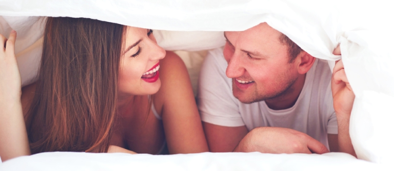 Happy Couple Under The Sheets, Privacy During Intimate