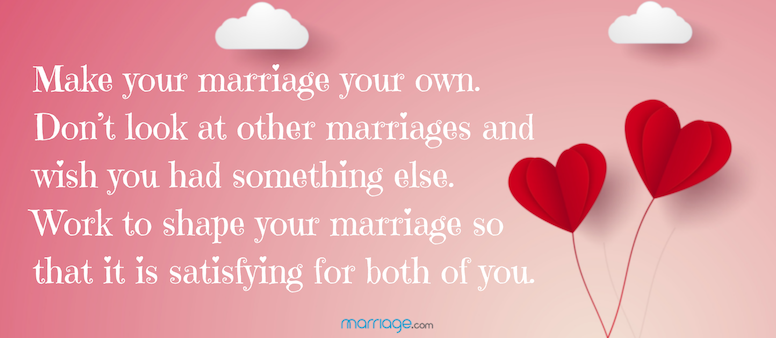 Make your marriage your own