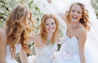 You can dress your bridesmaids up such that they all look just the same or have them wear different outfits