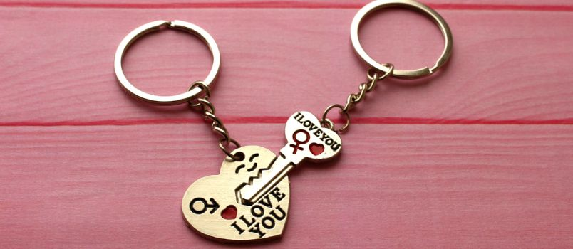 Locket full of love keychain