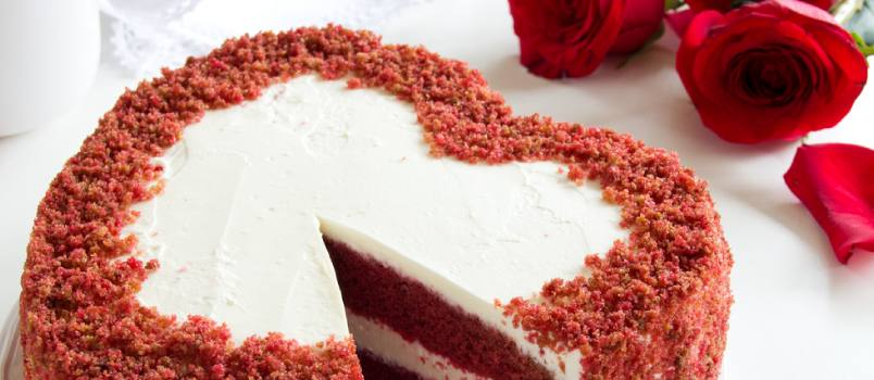 Select a heart shaped or a designer cake