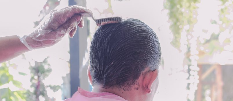 Just like many women, men don't necessarily like or want to see their hair go grey, especially at a young age