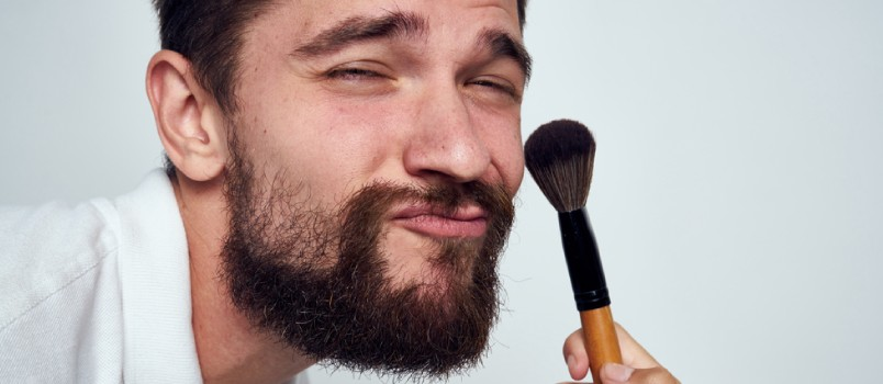 Men can wear makeup too, especially to cover up blemishes and skin imperfections