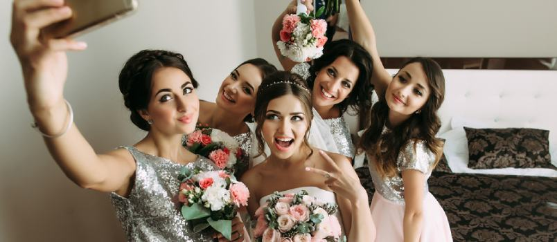 A wedding is usually accompanied by a party where all the guests enjoy themselves