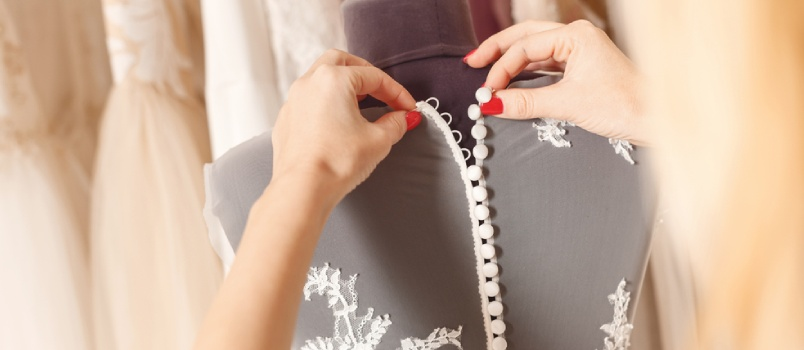 The dress requires a substantial portion of the wedding investment