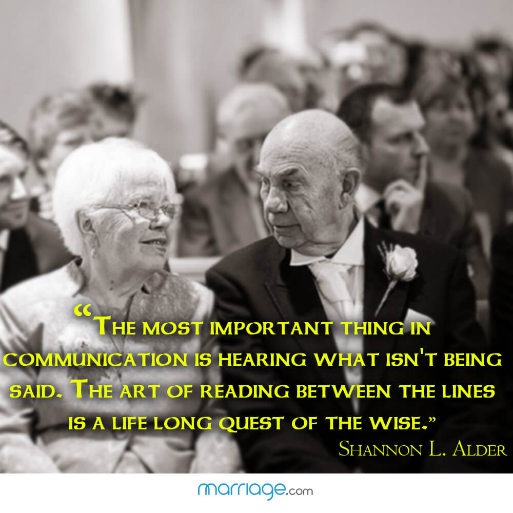 """The most important thing in communication is hearing what isn\'t being said. the art of reading between the lines is a life long quest of the wise.\"" Shannon L. Alder"