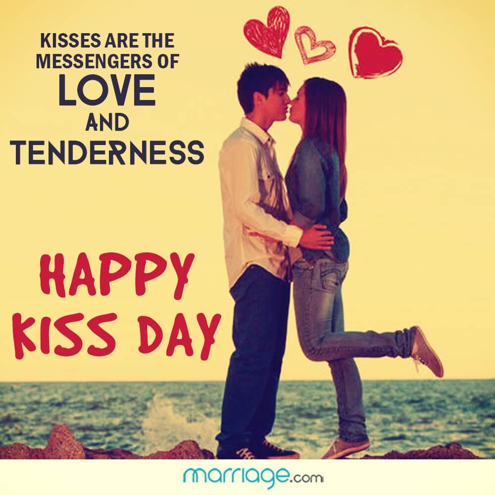 Kisses are the messengers of love and tenderness. Happy Kisss Day