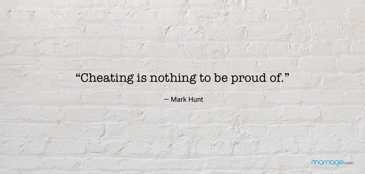 """Cheating is nothing to be proud of."" — Mark Hunt"