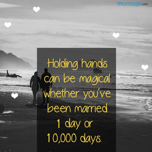 holding hands can be magical whether you've been married 1 day or 10000 days.