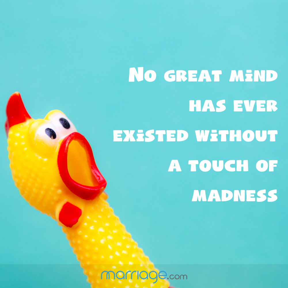 No great mind has ever existed without a touch of madness.""
