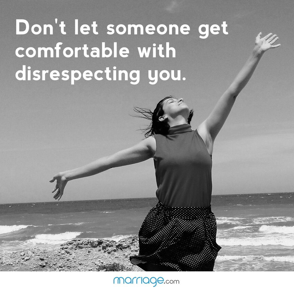 Don't let someone get comfortable with disrespecting you.
