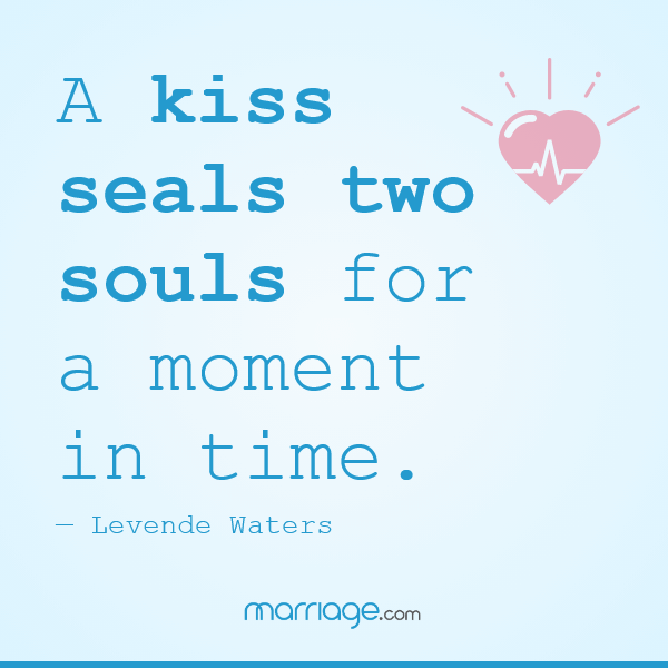 A kiss seals two souls for a moment in time. — Levende Waters