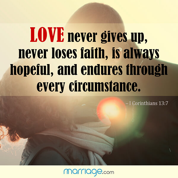 Love Quotes - Love never gives up, never loses faith, is ...