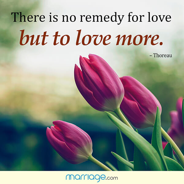 There is no remedy for love but to love more. - Thoreau