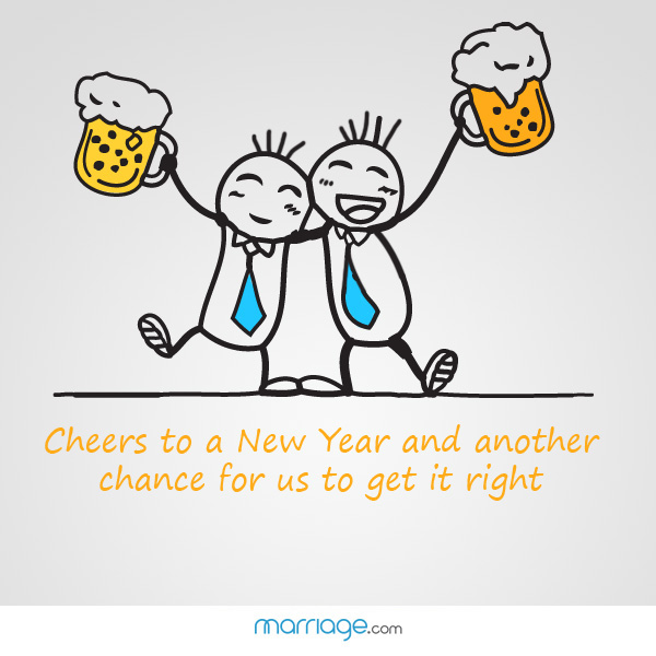 Cheers to a New Year and another... | Marriage Quotes