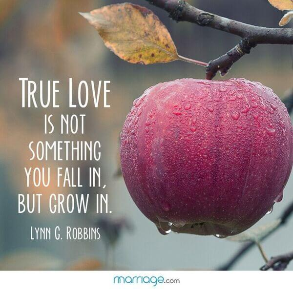 True love is not something you fall in, but grow in. Lynn C. Robbins