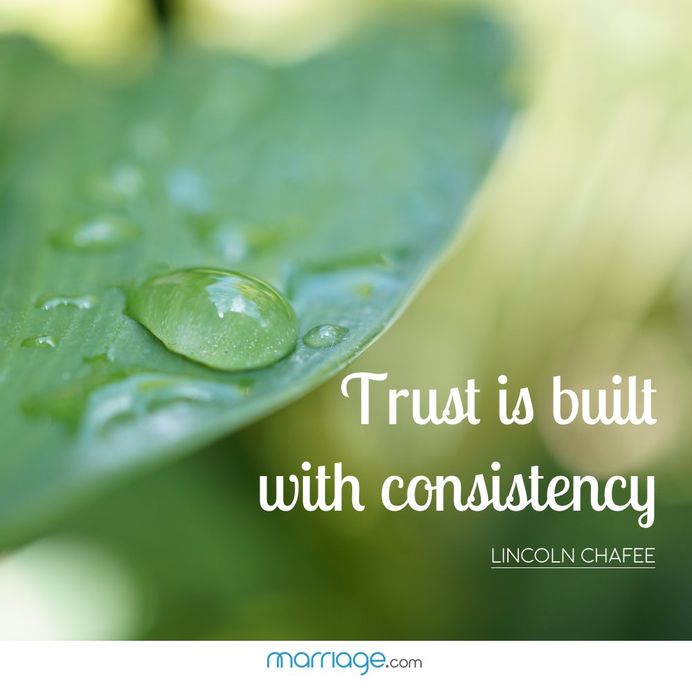 """Trust is built with consistency""- Lincoln Chafee"