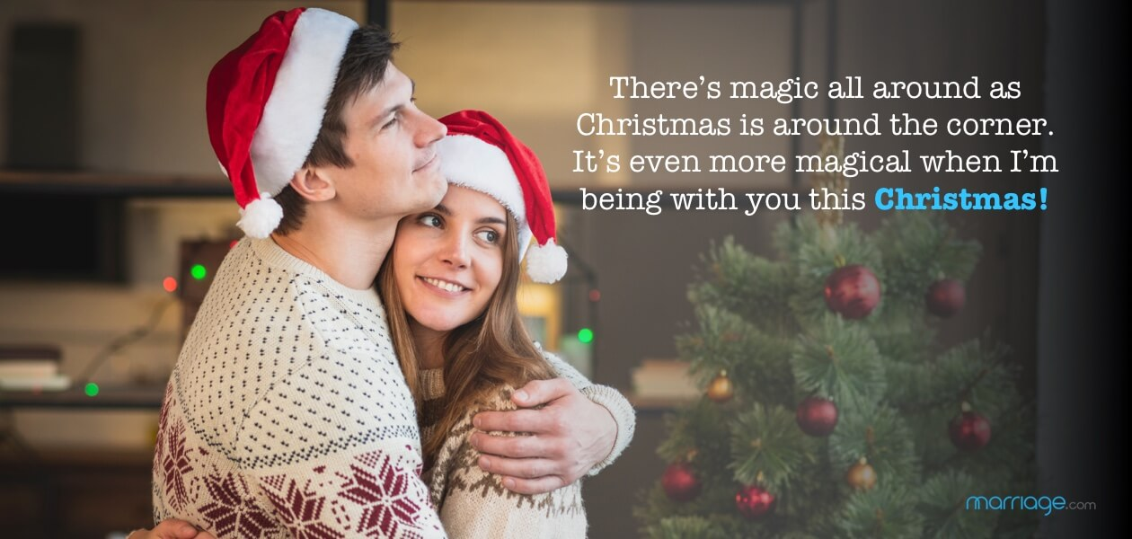 There's magic all around as Christmas is around the corner. It's even more magical when I'm being with you this Christmas!