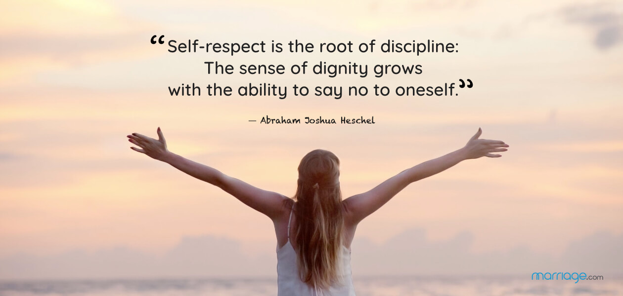 """Self-respect is the root of discipline: The sense of dignity grows with the ability to say no to oneself."" ― Abraham Joshua Heschel"